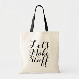 Bolsa Tote Deixe-nos fazer o material • Artesanatos
