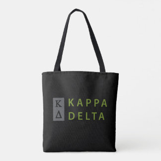 Bolsa Tote Delta do Kappa empilhado