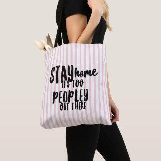 Bolsa Tote Demasiado de Peopley sacola para fora lá