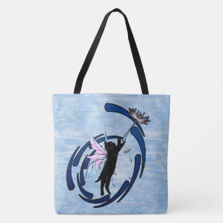 Bolsa Tote Dente-de-leão cósmico do gato