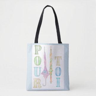 Bolsa Tote Derrame a sacola de Toi - na luz - azul