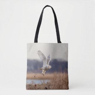 Bolsa Tote Descolagem nevado da coruja