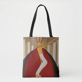Bolsa Tote Desenhista de ZenobiaArt/bolsa do vintage