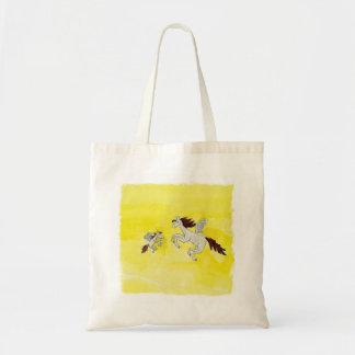 Bolsa Tote Desenho criançola da aguarela com cavalos voados