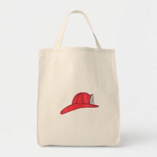 Bolsa Tote Desenho do capacete do sapador-bombeiro do