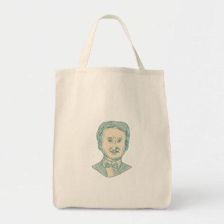 Bolsa Tote Desenho do escritor de Edgar Allan Poe