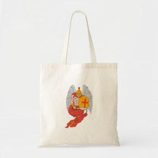 Bolsa Tote Desenho espartano do rosário da espada do anjo do