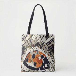 Bolsa Tote Desenho estilizado de um joaninha vermelho