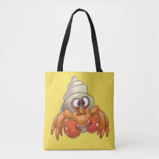 Bolsa Tote Desenhos animados bonitos do saco do caranguejo