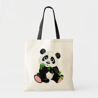 Bolsa Tote Desenhos animados bonitos do urso de panda