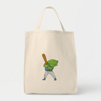 Bolsa Tote Desenhos animados da batedura do jogador de
