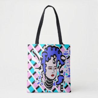 Bolsa Tote Desenhos animados de cabelo roxos