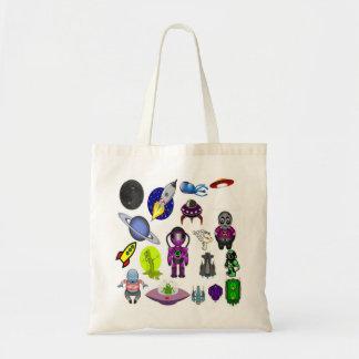 Bolsa Tote Desenhos animados do espaço