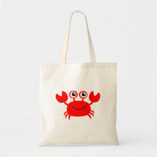 Bolsa Tote Desenhos animados vermelhos felizes do caranguejo