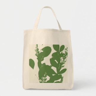 Bolsa Tote Design alto contraste da folha da silhueta