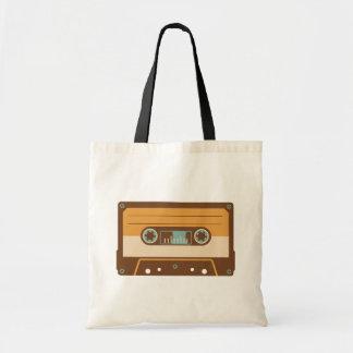 Bolsa Tote Design análogo da cassete de banda magnética