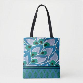 Bolsa Tote Design azul de Nouveau da arte do Hosta
