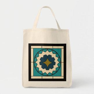 Bolsa Tote Design azul do azulejo de Deco
