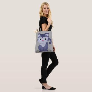 Bolsa Tote Design bonito do gato em uma sacola