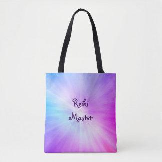 Bolsa Tote Design claro roxo do mestre de Reiki