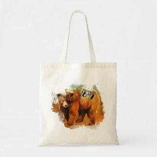Bolsa Tote Design colorido do urso do PA 18337 de Milford