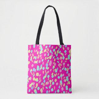Bolsa Tote Design cor-de-rosa do teste padrão dos confetes