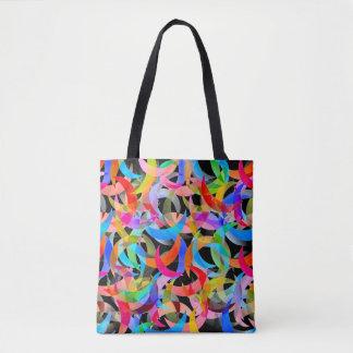 Bolsa Tote Design crescente colorido na sacola