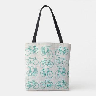 Bolsa Tote Design da bicicleta do vintage