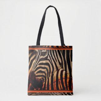 Bolsa Tote Design da zebra & do impressão do teste padrão