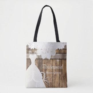 Bolsa Tote Design de madeira do chá de panela do celeiro