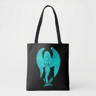 Bolsa Tote Design do anjo, do preto e do verde