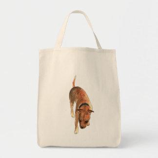 Bolsa Tote Design do cão do Watercolour de Staffordshire bull