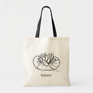 Bolsa Tote Design do corte de Namaste Lotus Lino