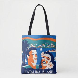 Bolsa Tote design do Tag da bagagem da ilha de Catalina dos