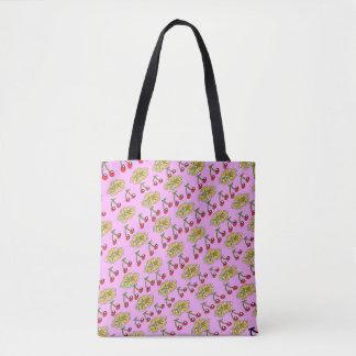Bolsa Tote Design do teste padrão de flor da cereja