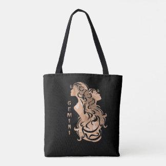 Bolsa Tote Design do zodíaco dos Gêmeos