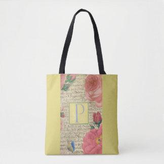 Bolsa Tote Design elegante clássico do monograma