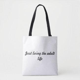 Bolsa Tote Design feliz da sombra - apenas vivendo a vida