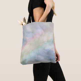 Bolsa Tote Design floral Pastel da mandala do arco-íris