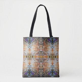 Bolsa Tote Design geométrico abstrato toda sobre - imprima o