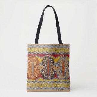 Bolsa Tote design geométrico, cores da queda, impressionantes