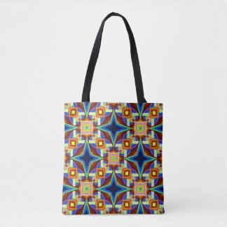 Bolsa Tote Design geométrico extravagante