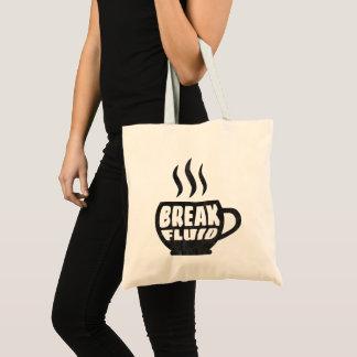 Bolsa Tote Design gráfico da sacola do café do Grunge fluido