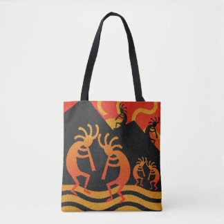 Bolsa Tote Design Kokopelli Sun tribal do sudoeste