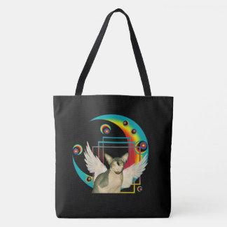 Bolsa Tote Design louco do gato com anjo do gato de Sphynx