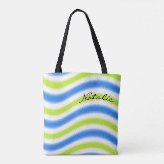 Bolsa Tote Design ondulado com nome -