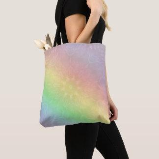 Bolsa Tote Design Pastel da mandala do arco-íris