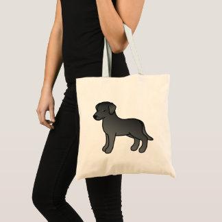 Bolsa Tote Design preto do cão de labrador retriever dos