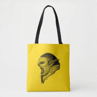 Bolsa Tote Design preto e amarelo do troll