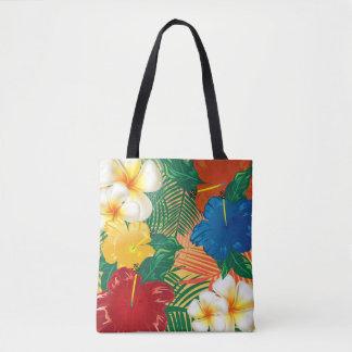 Bolsa Tote Design tropical exótico da flor